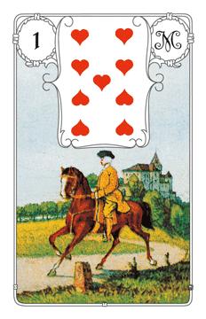 Lenormandkarte Der Reiter