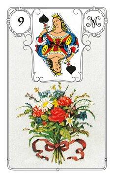Lenormandkarte Blumenstrauss