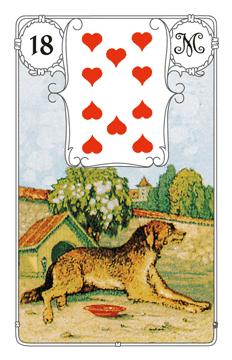 Lenormandkarte Der Hund