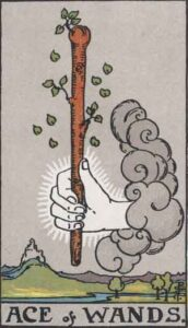 Tarotkarte - As der Stäbe