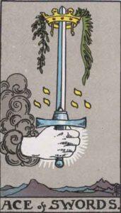 Tarotkarte - As der Schwerter