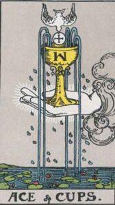 Tarotkarte - As der Kelche